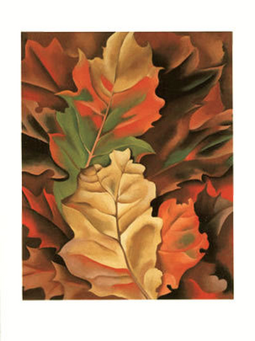 Autumn Leaves, Lake George, 1924 - Notecard