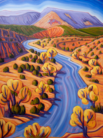 Autumn Chama River - canvas