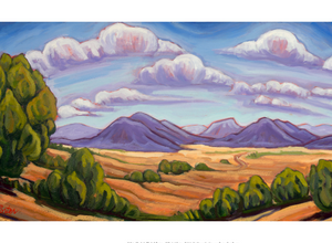 Galisteo Clouds - notecard