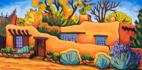 Autumn Adobe - canvas