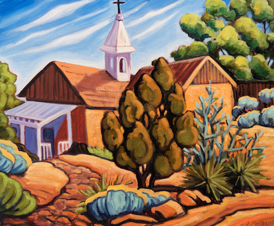 Bishop Lamy's Chapel - canvas