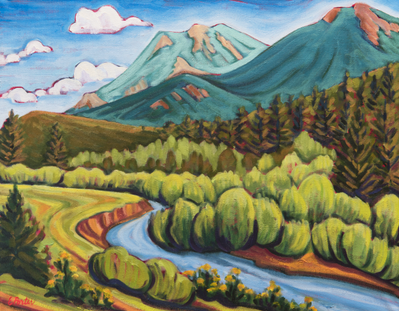 Cabin Creek - canvas