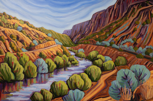 River to Taos - canvas
