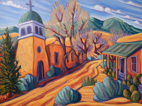 St. Joseph's, Cerrillos, NM - canvas