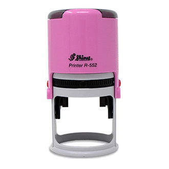 Round Self Inking Notary in Pink, Red, Blue or Black
