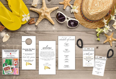 Destination Wedding Map Welcome Bag Collection