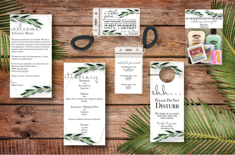 Greenery Welcome Bag Collection