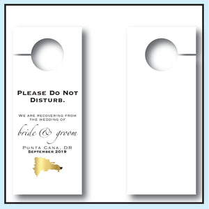 Personalized Wedding Door Hangers - Map