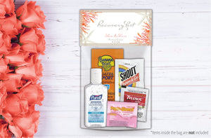 Wedding Hangover Recovery Kit Bags | Coral