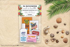 Destination Wedding Hangover Kit Bags - Tropical Design