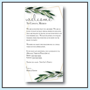 Single Sided | Welcome Letter