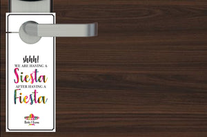 Mexico Destination Wedding Do not Disturb Wedding Door Hangers