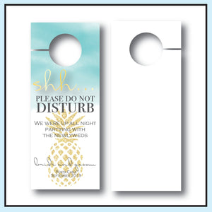 Destination Wedding Door Hanger | Do not disturb sign