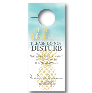 Pineapple Wedding Door Hanger | Do not disturb sign