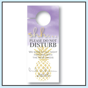 Purple | Wedding Door Hanger