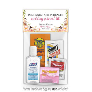 Floral Hangover Recovery Kit Topper & Bag