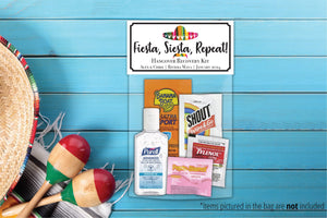 Wedding Hangover Kit Bags | Fiesta Theme