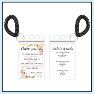 Blush | Floral Wedding Room Key Holder