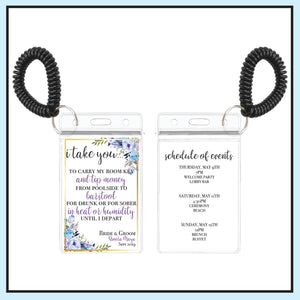 Blue | Floral Wedding Room Key Holder