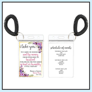 Purple | Floral Wedding Room Key Holder