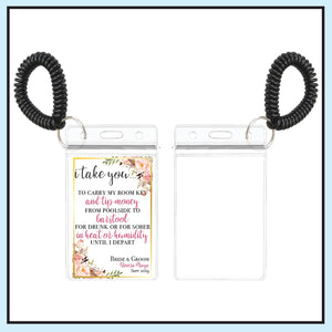 Single Sided Room Key Holder | Floral