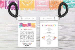 Mexico Destination Wedding Room Key Holder | Papel Picado Theme