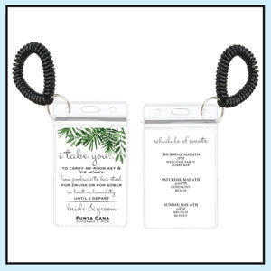 Green | Tropical Wedding Room Key Holder