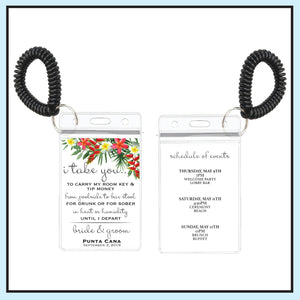 Red | Tropical Wedding Room Key Holder