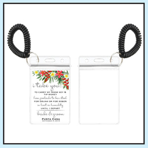 Single Sided | Tropical Wedding Room Key Holder