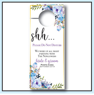 Blue Wedding Door Hangers