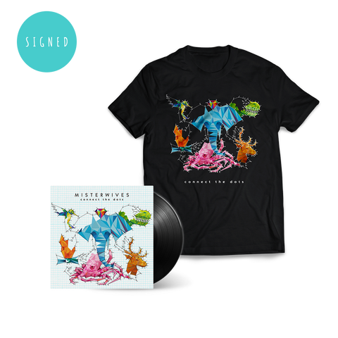 Signed Connect The Dots LP + T-Shirt Bundle