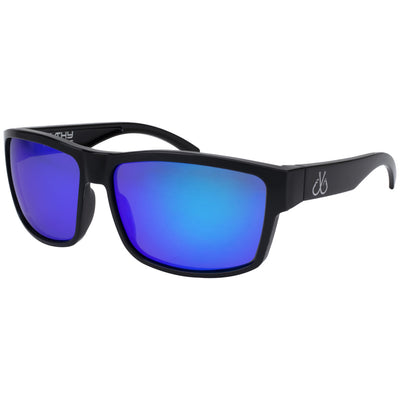 Black/Smoked Polarized w/ Blue Mirror