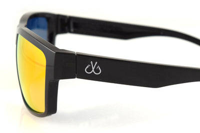 Black/Smoked Polarized w/ Sunburst Mirror