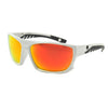 White/Polarized w/ Sunburst Red Mirror