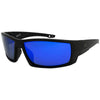 Matte Black/Polarized EP Blue Mirror