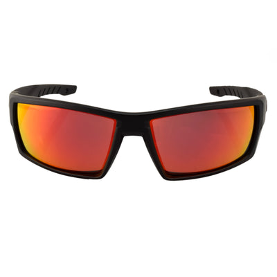 Matte Black/Rose Polarized w/ Red Mirror