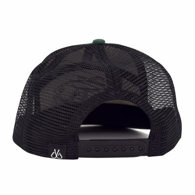 Filthy Bass 7 Panel Trucker Camp Hat, Green