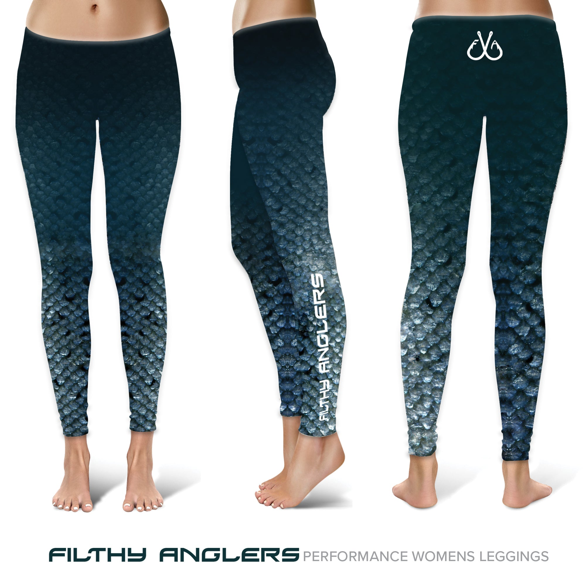 Women's Fishing Leggings, UPF Protection - Filthy Anglers