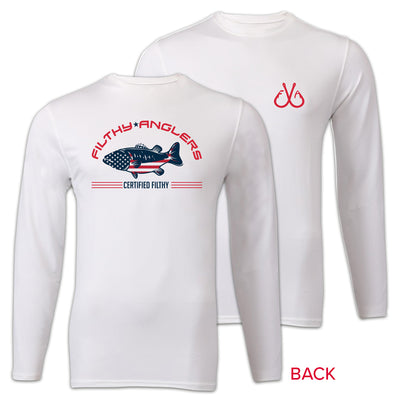 Patriotic Long Sleeve T-Shirt UPF 50+Sun Protection