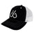 Black & White Trucker Hat, Snapback