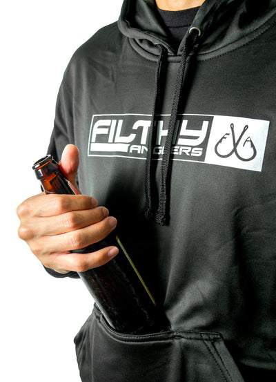 Koozie Fishing Hoodie Sweatshirt w/ Built In Bottle Opener