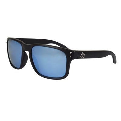 Matte Black Polarized w/ Ice Blue Mirror Lenses
