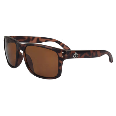 Matte Tortoise Brown Polarized Lenses