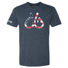 Patriotic Fishing Hooks T-Shirt