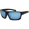 Matte Black/Polarized w/ Water Blue Mirror