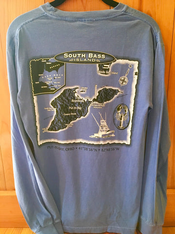 South Bass Island Long Sleeve Chart Tee