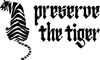 Preserve the tiger logo wordmark. high quality streetwear clothing