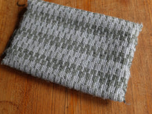 Backside of grey fukusabasami in krokbragd pattern