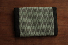 Small lined cotton krokbragd clutch