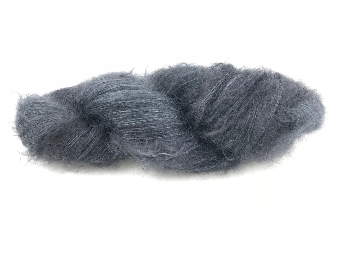 GUNMETAL KIDSILK LACE CLOUD